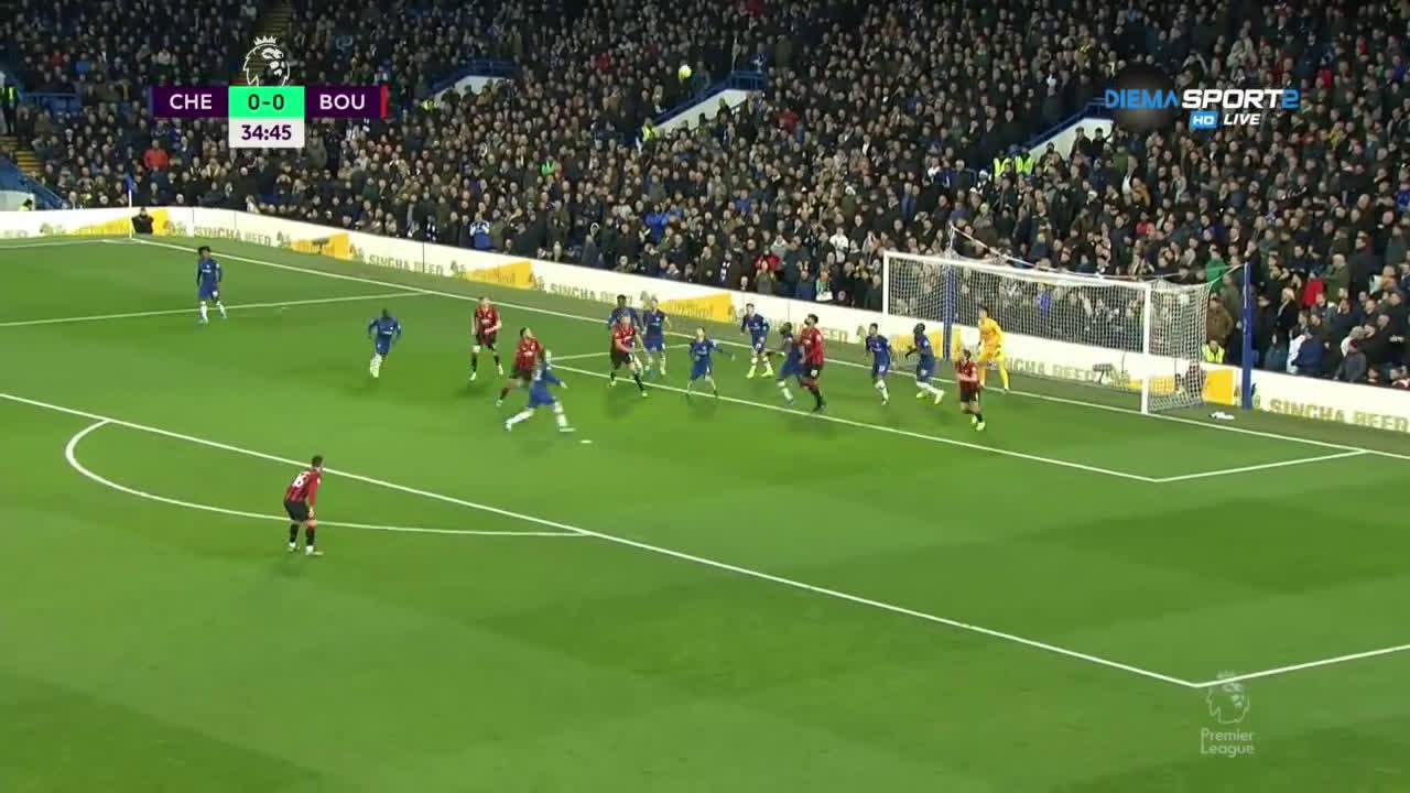 Челси - Борнемут 0:0 /първо полувреме/