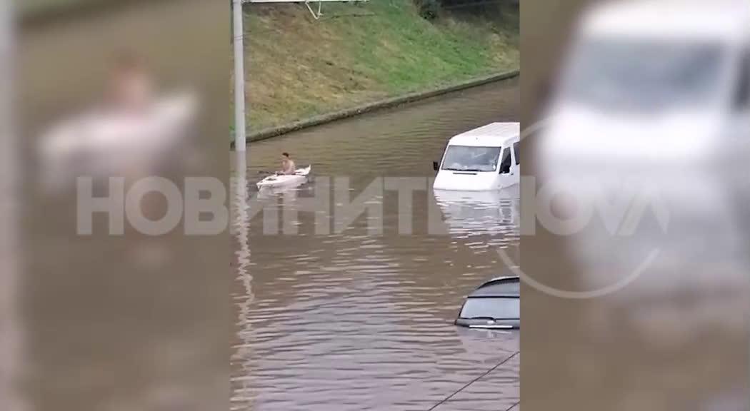 Обилен дъжд и наводнения в Русе
