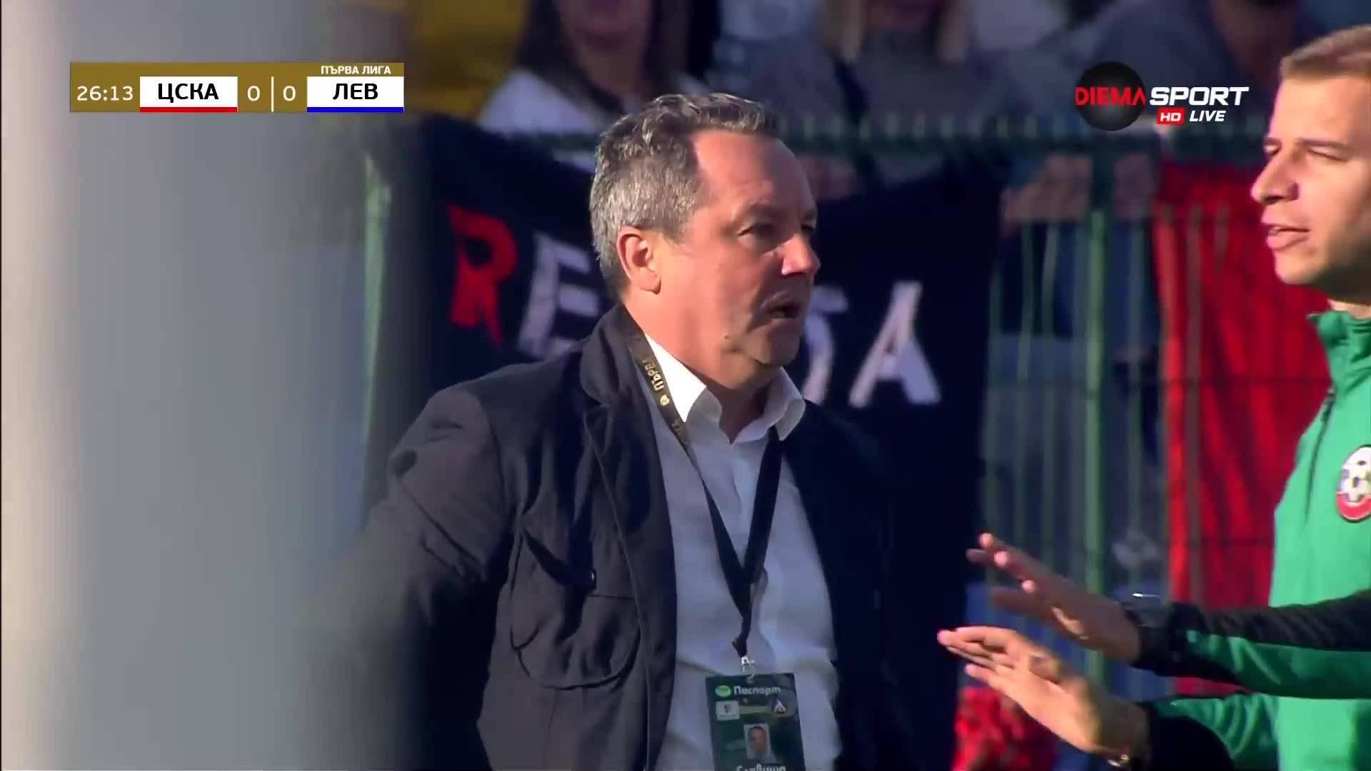 Предупреждение за треньора на Левски