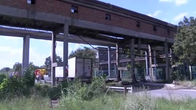 Тир разруши естакадата на ТЕЦ край Гълъбово