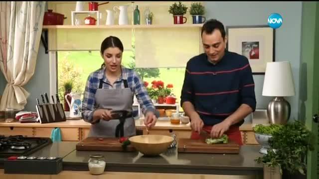 Зелена салата с цедено мляко - Бон Апети (05.05.2017)