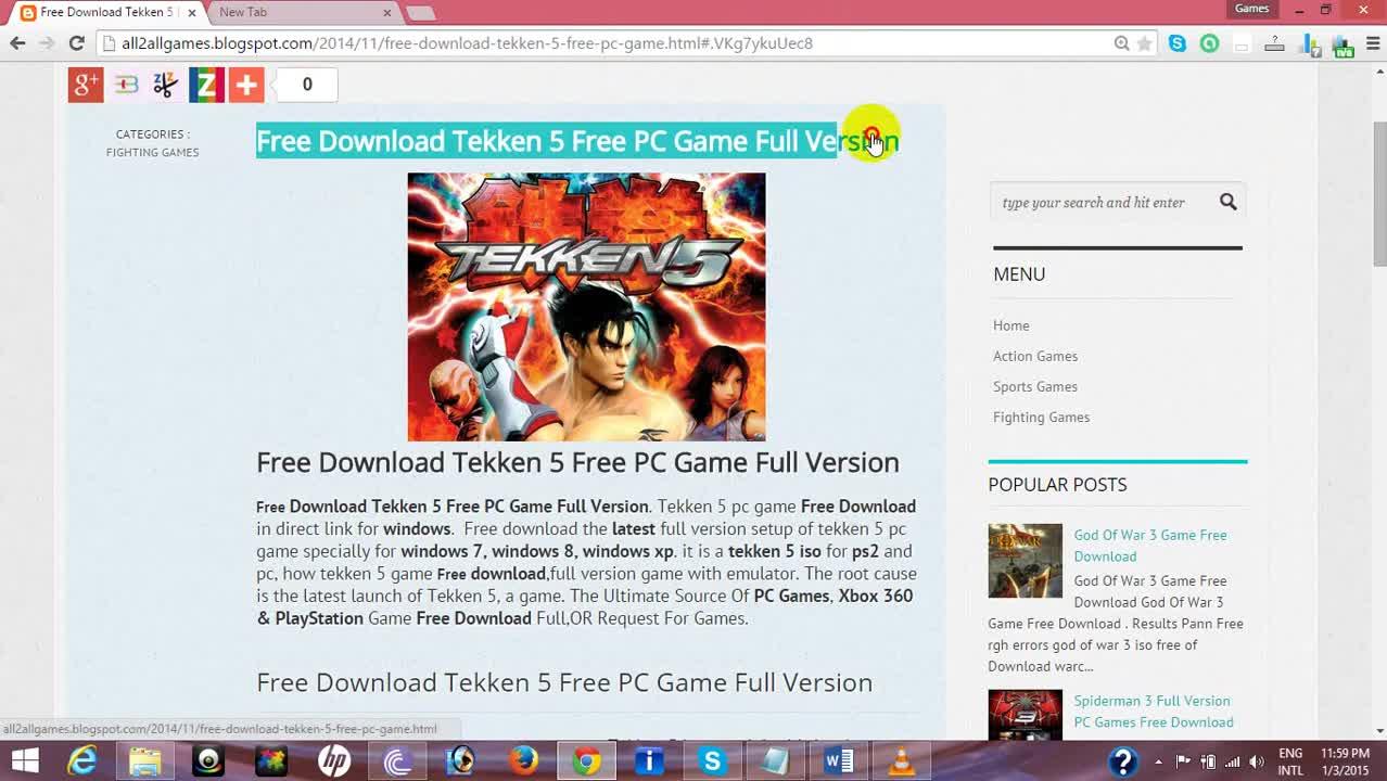 Free download tekken 5 free pc game full version vbox7.