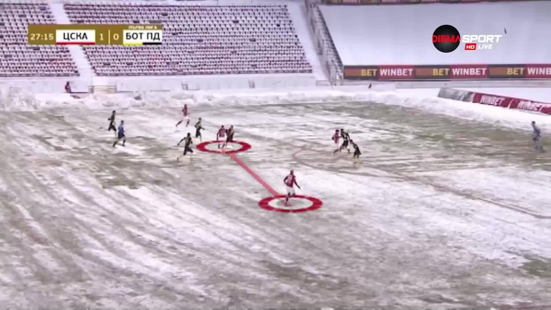 Изводите за ЦСКА след снежния успех над Ботев Пд