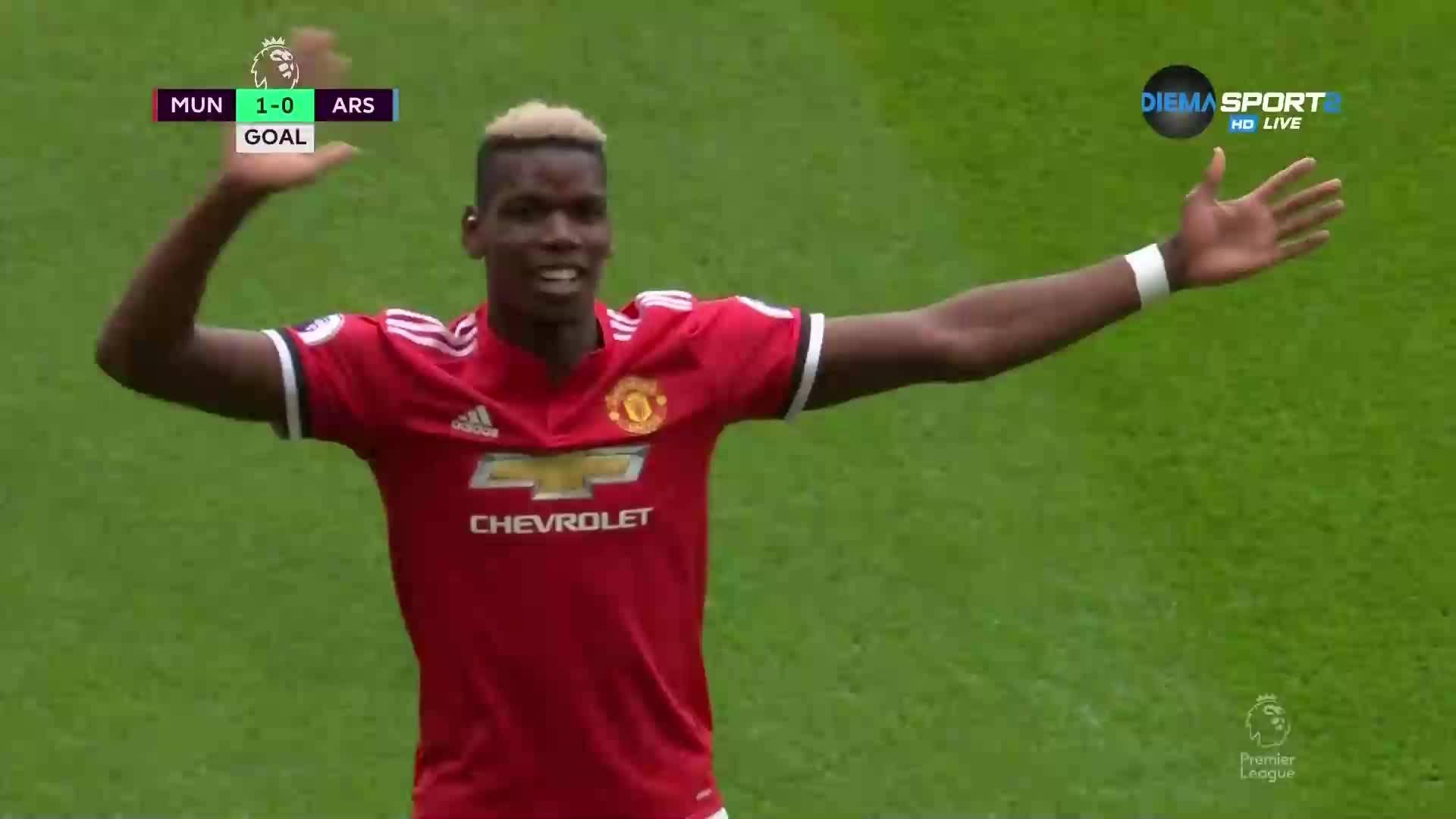 Погба наказа резервите на Арсенал