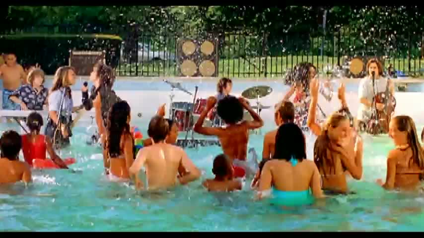Naked bothers band in a pool