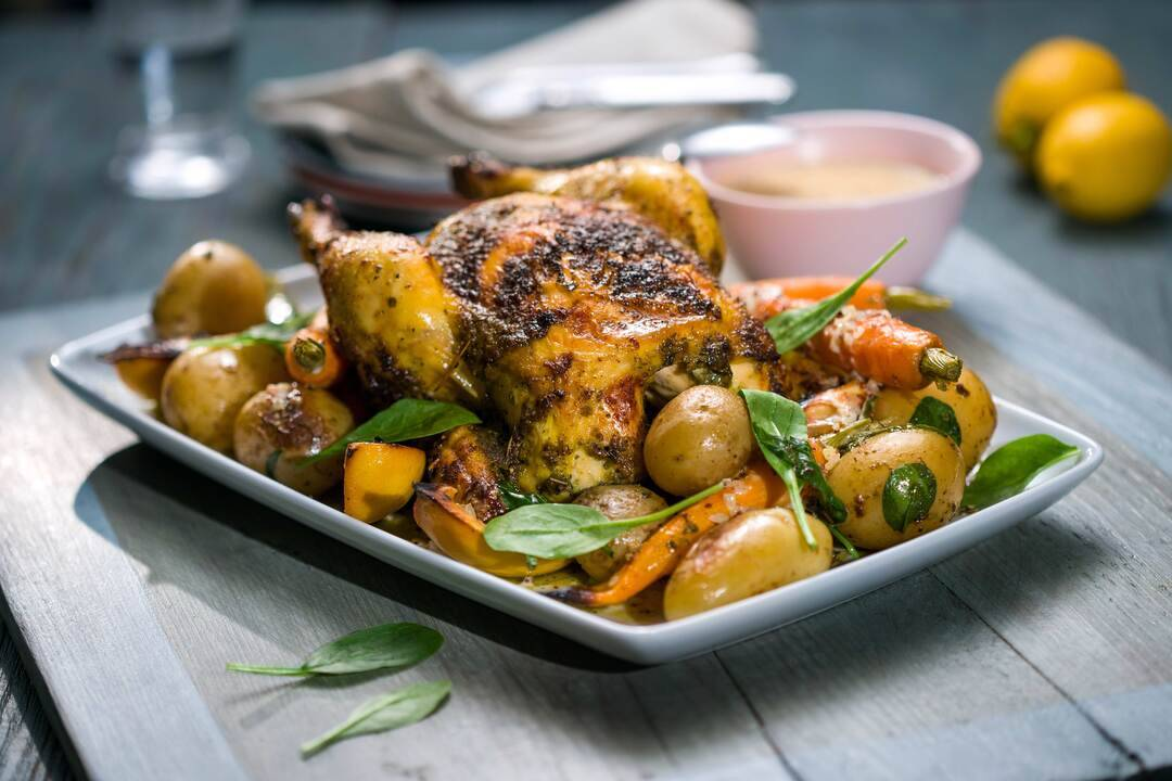 Печено пиле с пресни картофи и горчичен сос | Бон Апети | 24Kitchen Bulgaria