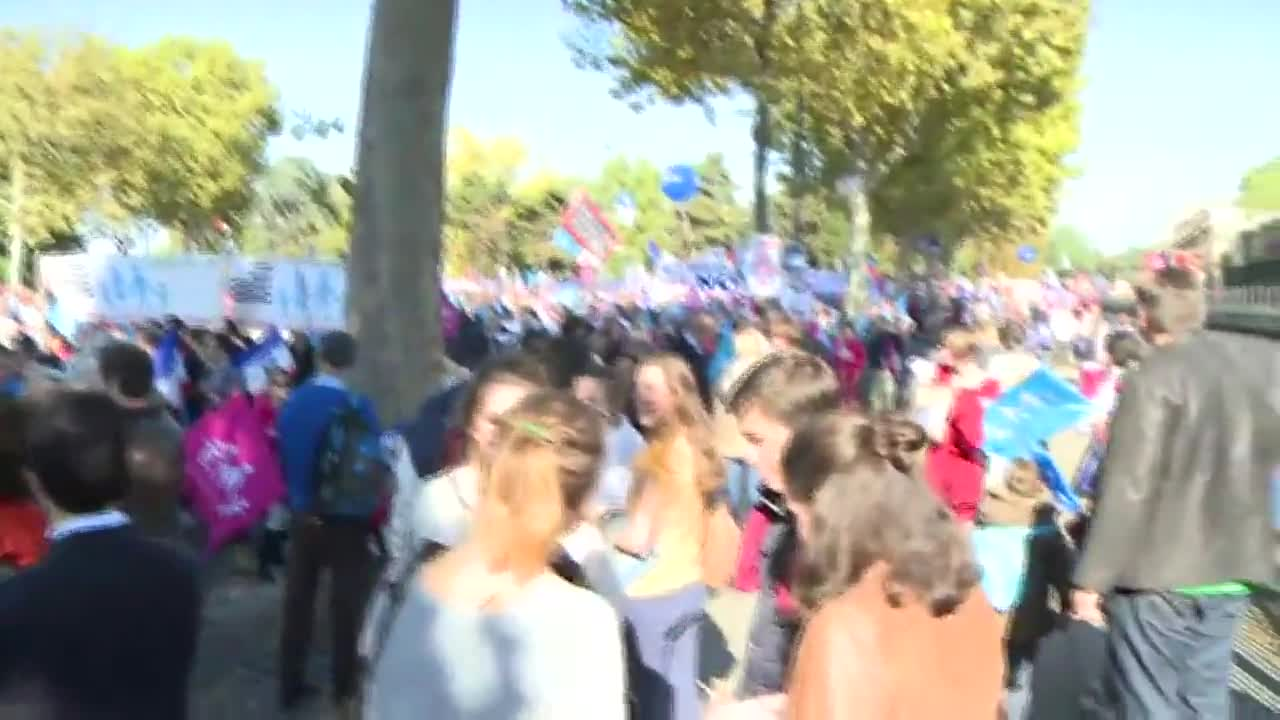 France: Thousands march in Paris against same-sex marriage