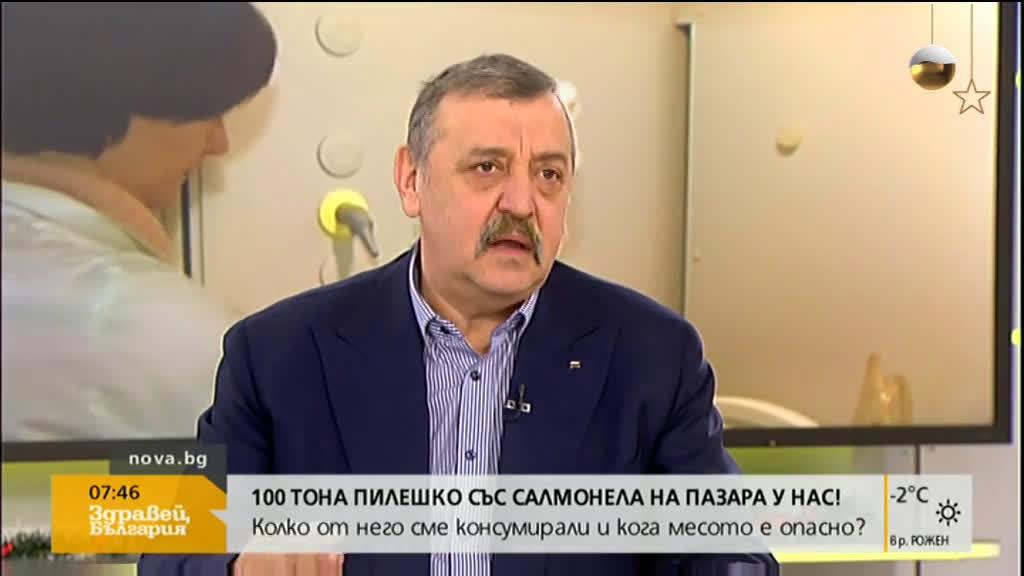 Кантарджиев: Основната причина за салмонела е недобре съхранена храна