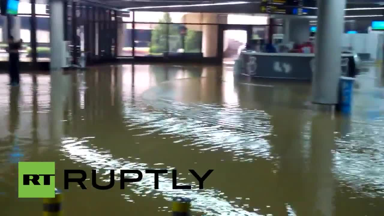 Russia: Sochi Airport flooded after heavy rainfalls