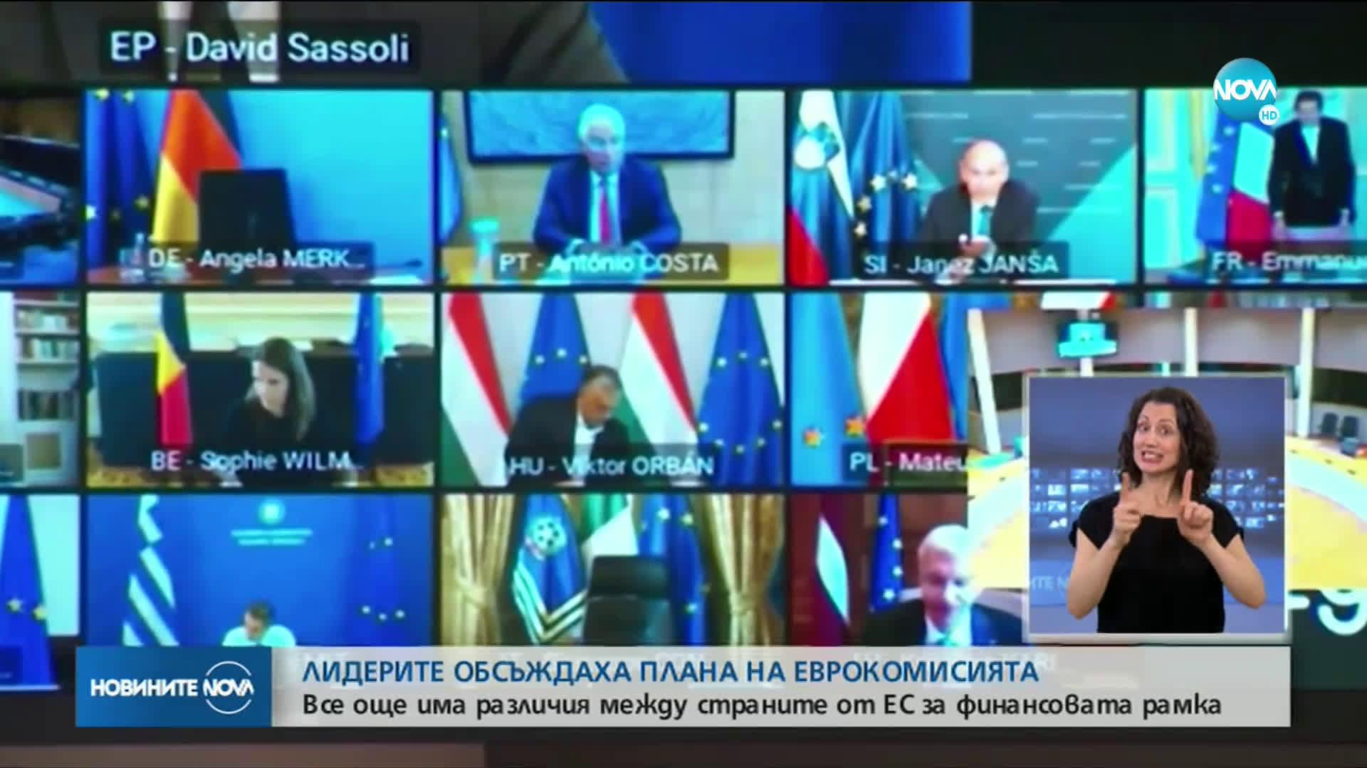 Европейските лидери се събраха на виртуална среща
