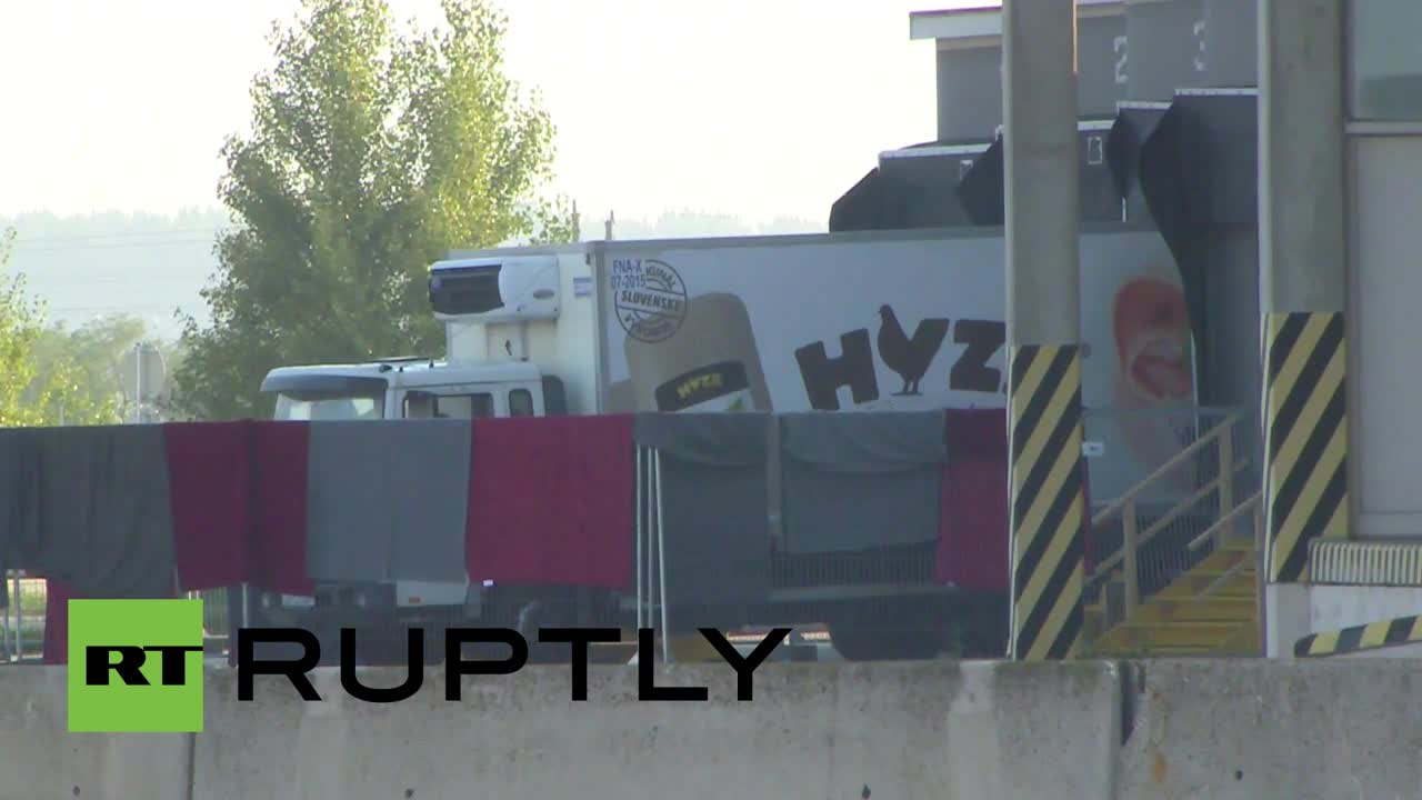 Austria: Footage shows lorry that was carrying more than 70 dead refugees
