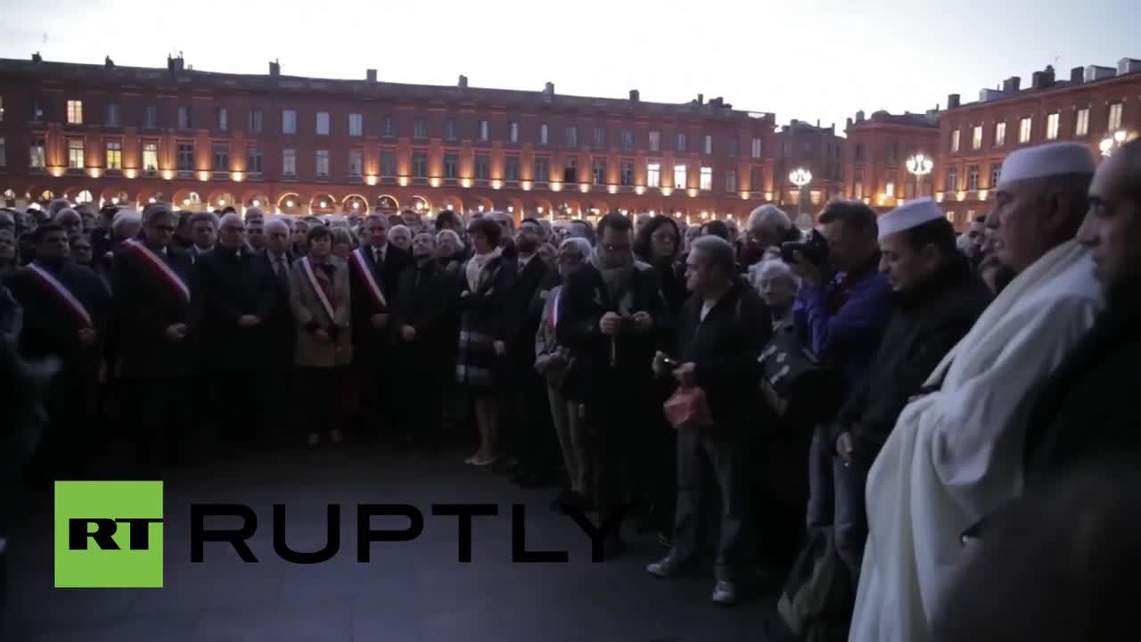 В Тулуза 15 хил. души отдадоха почит на жертвите от атентатите в Париж