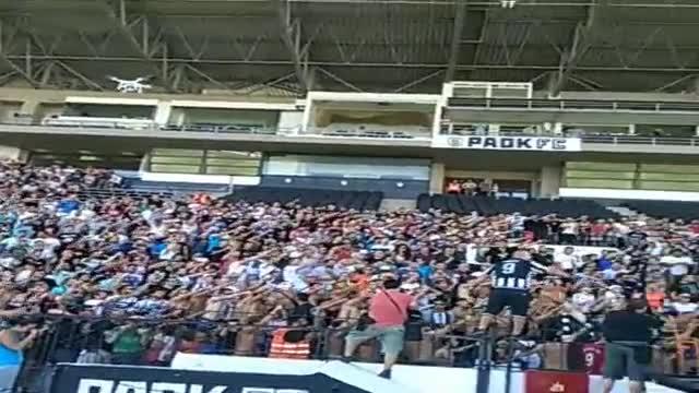 Грандиозно посрещане за Бербатов на стадиона на ПАОК