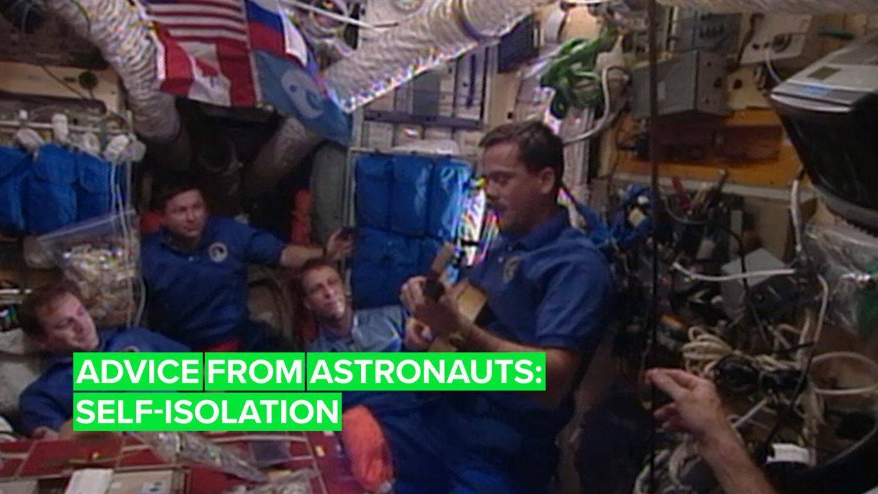 Here's what astronauts can teach us about self-isolation
