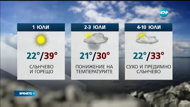 Прогноза за времето (30.06.2017 - обедна емисия)