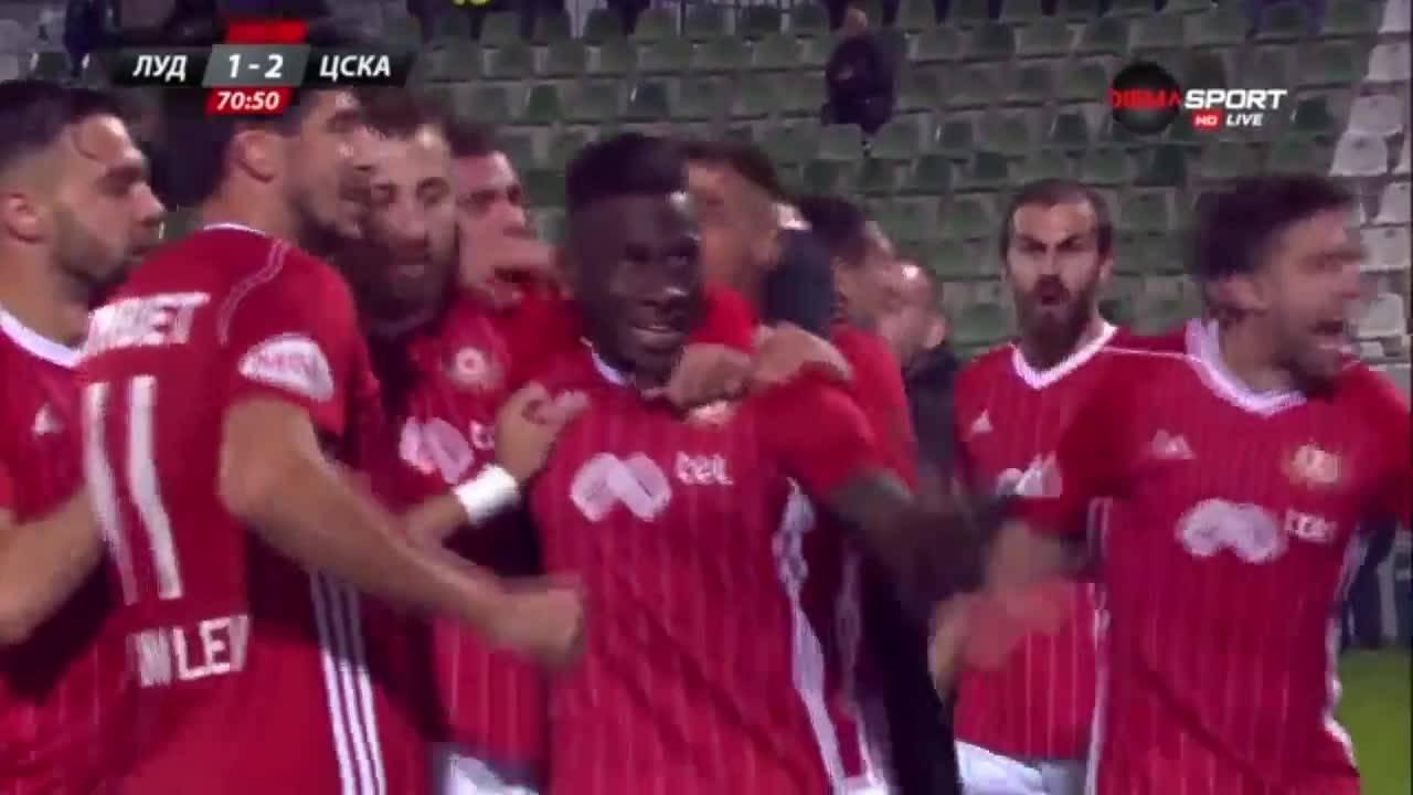Голът на Кевин Меркадо за ЦСКА срещу Лудогорец