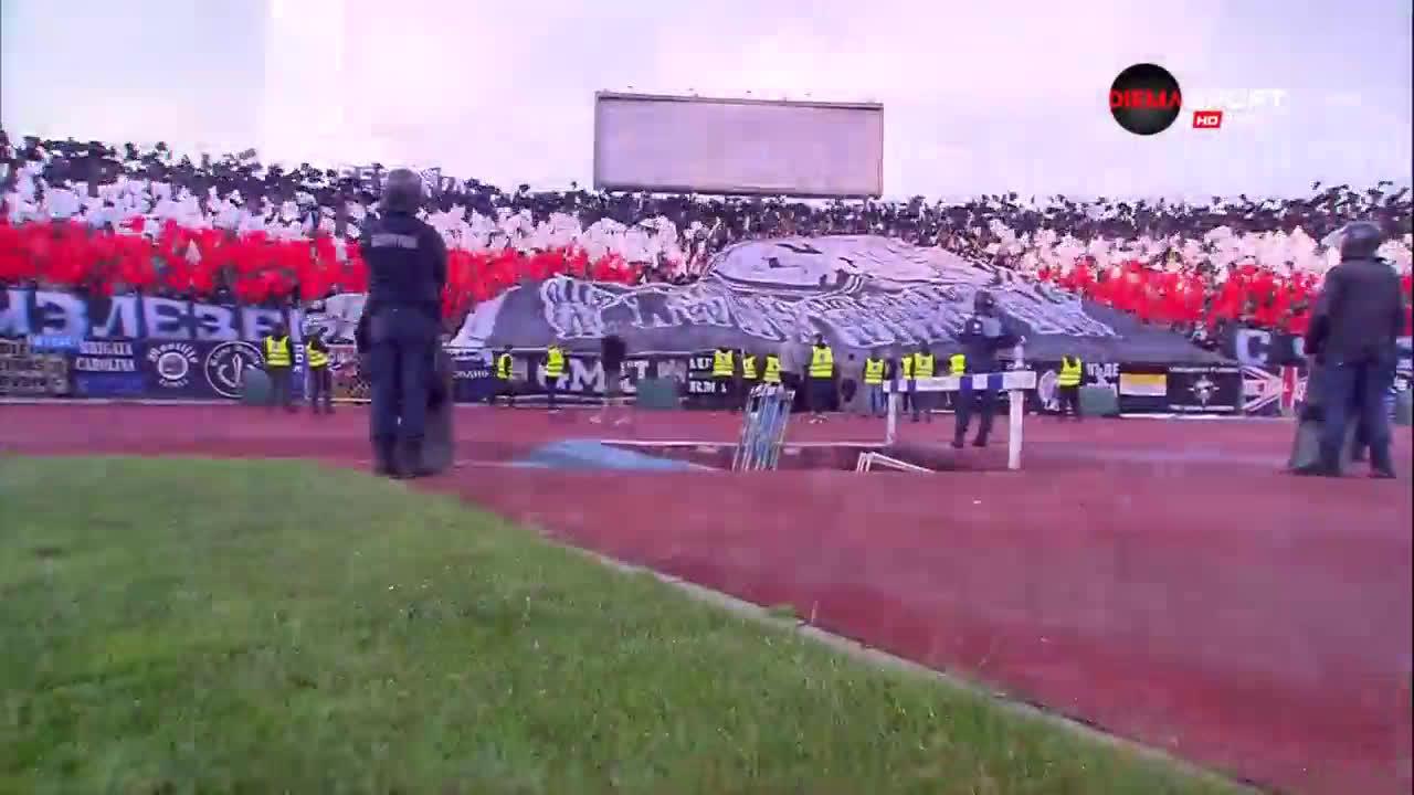 Хореография и от феновете на Локомотив Пд