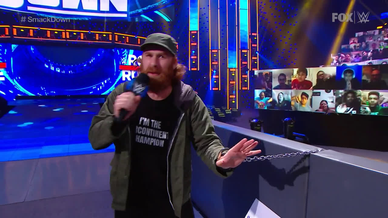 Sami Zayn handcuffs himself to the ring in protest: SmackDown, Jan. 22, 2021 - Vbox7