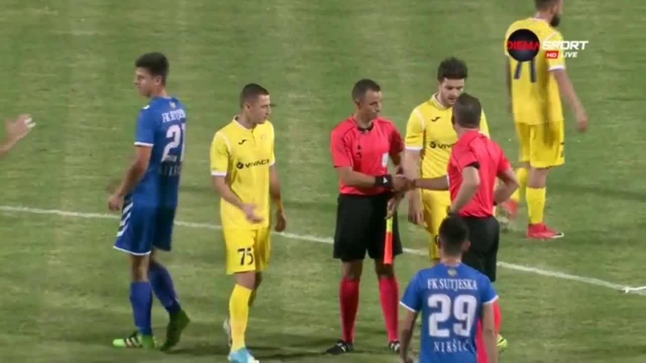 Сутиеска - Левски 0:0, Лига Европа, I предварителен кръг, реванш