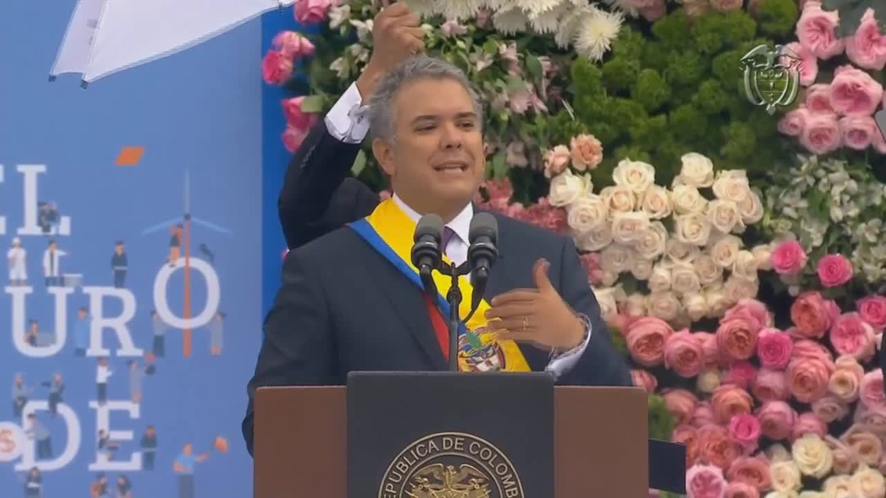 Colombia: Duque vows to \'correct\' peace deal with FARC at inauguration in Bogota