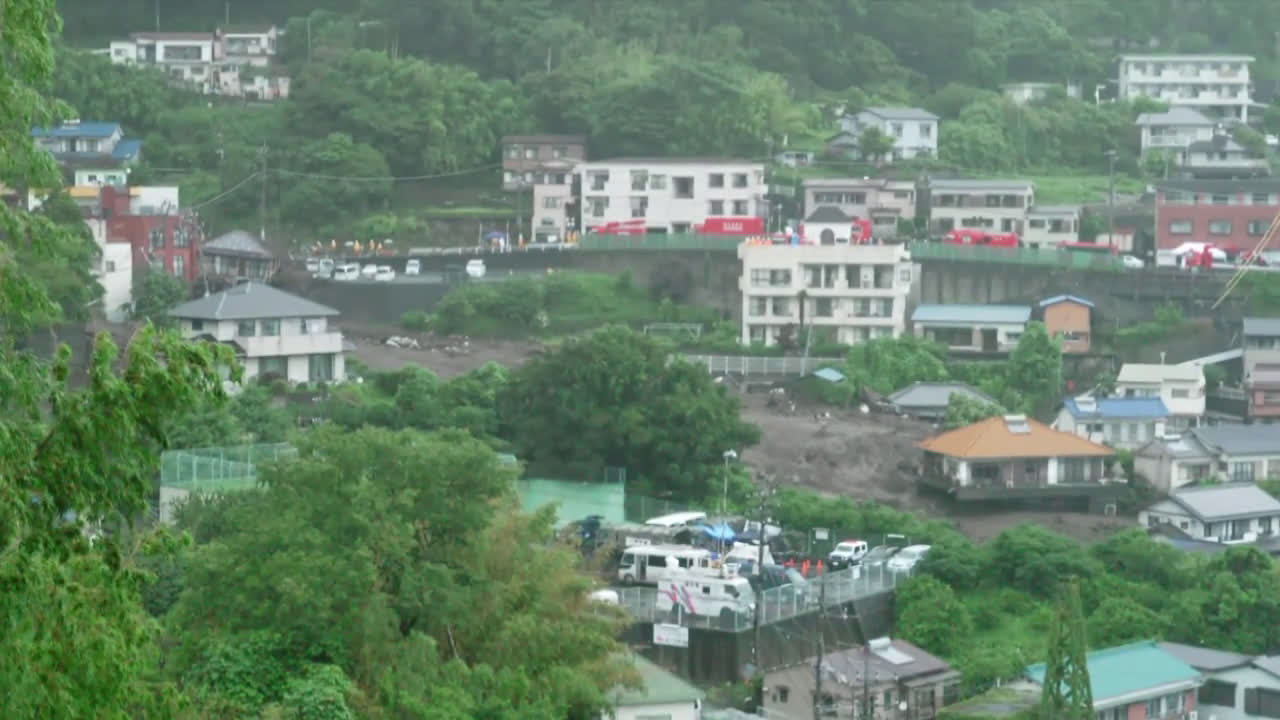 Japan: Rescue efforts underway as 20 still missing in landslide-hit Atami