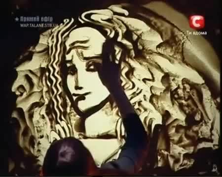 Рисуване с пясък Украйна търси талант - Ксения Симеонова