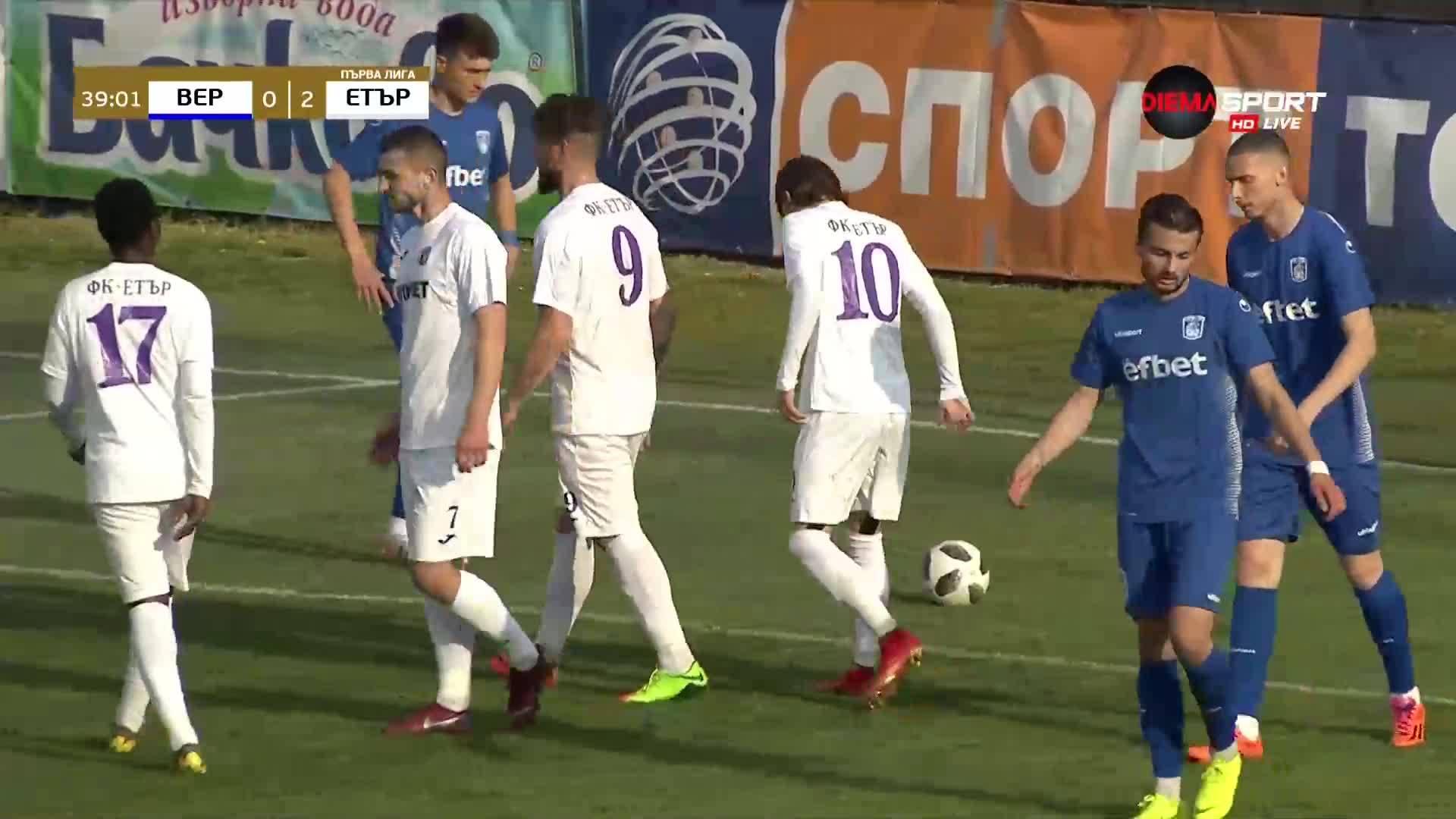Петков с втори гол във вратата на Верея