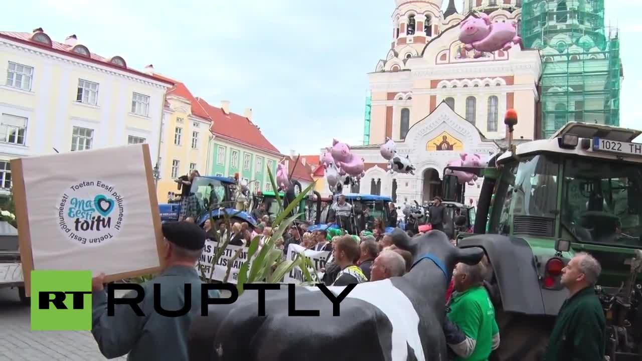 Фермерите в Естония протестират срещу цените на храните