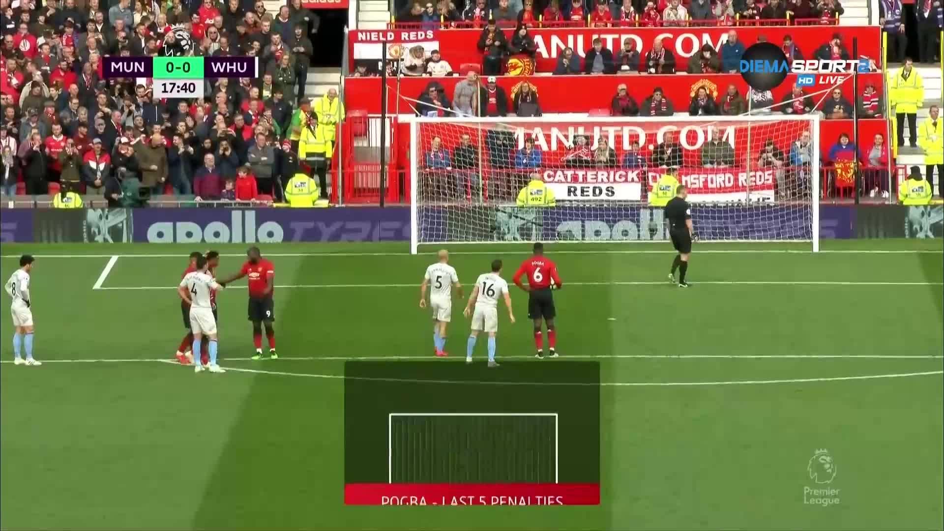 Юнайтед поведе на Уест Хем с дузпа