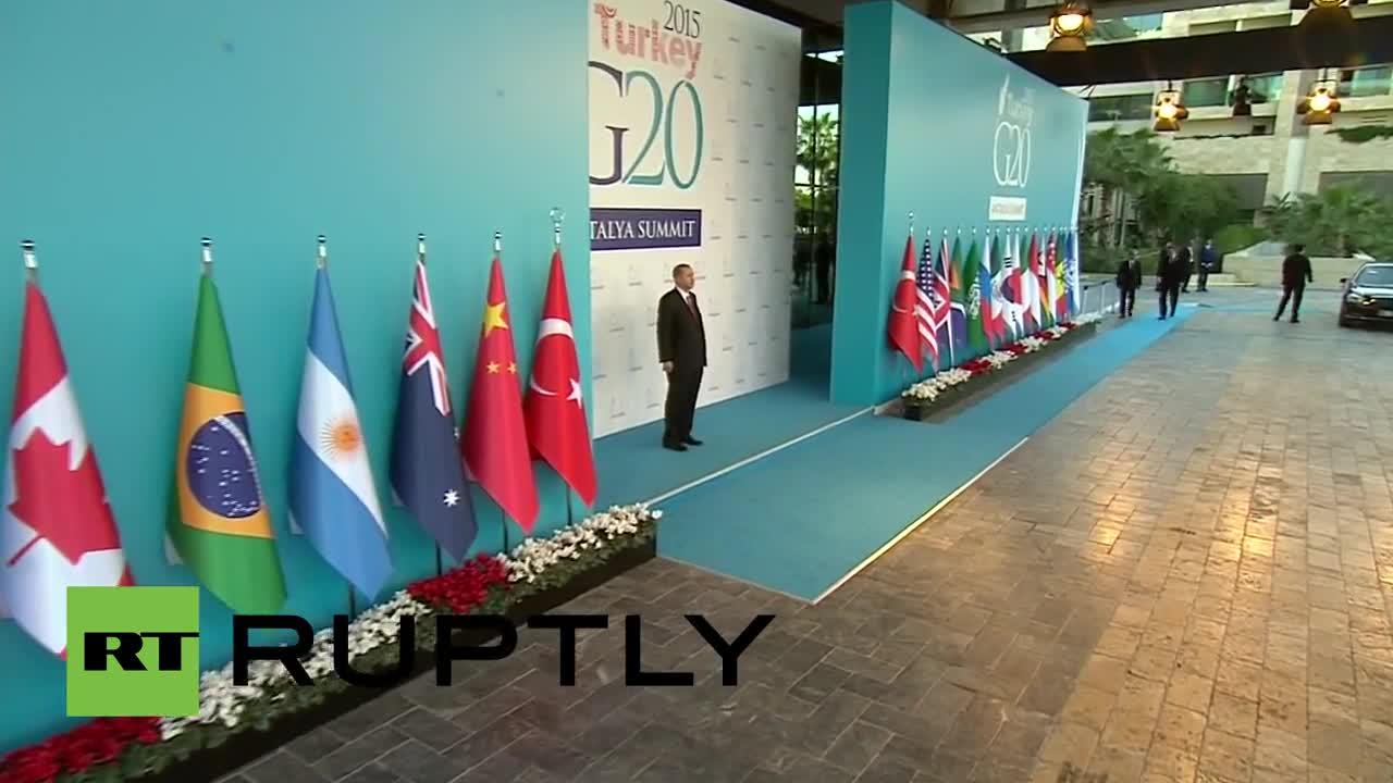 Turkey: Erdogan greets UK's Cameron as G20 summit kicks off