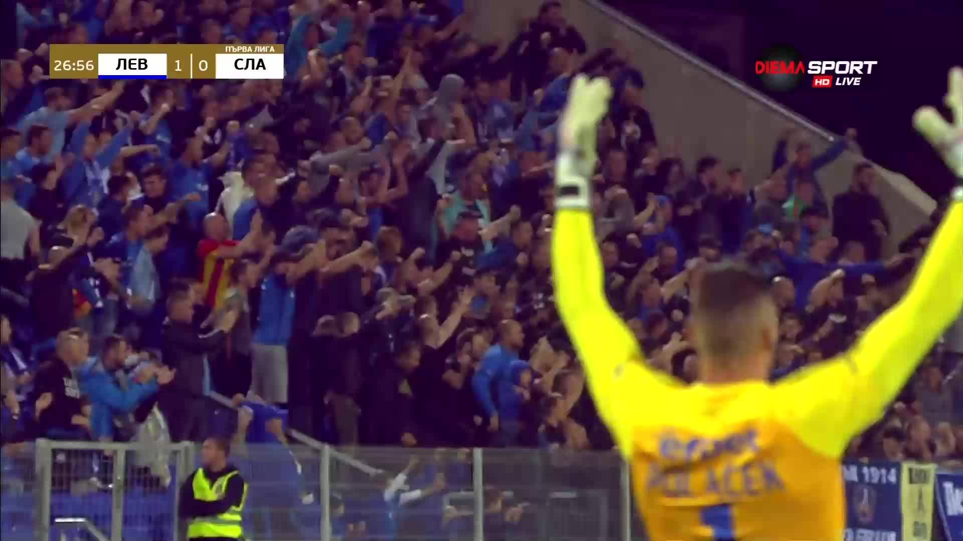 Левски поведе на Славия, 7-и гол за Станислав Костов