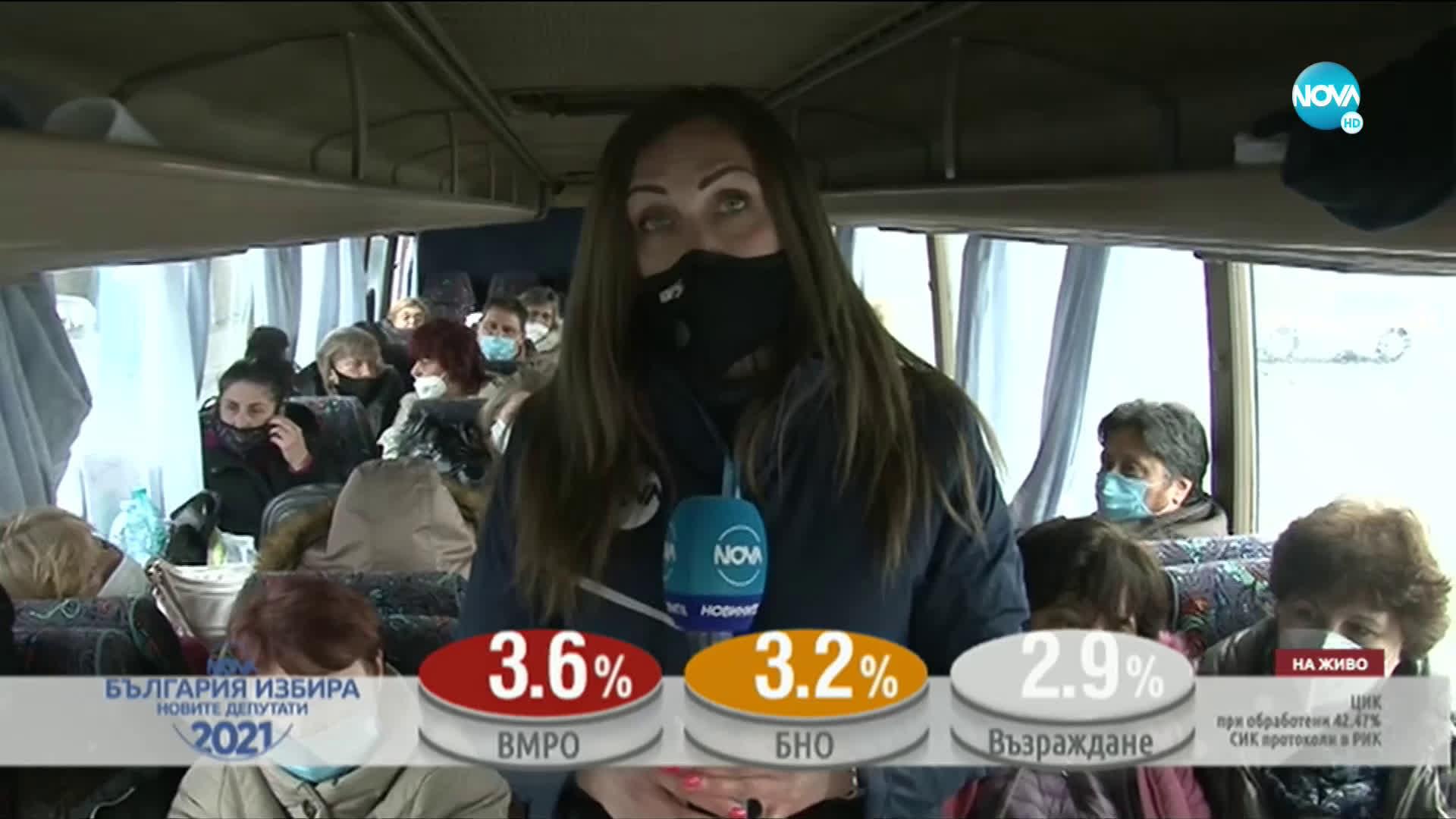 Десетки автобуси с членове на СИК изчакват с часове на Морската гара в Бургас