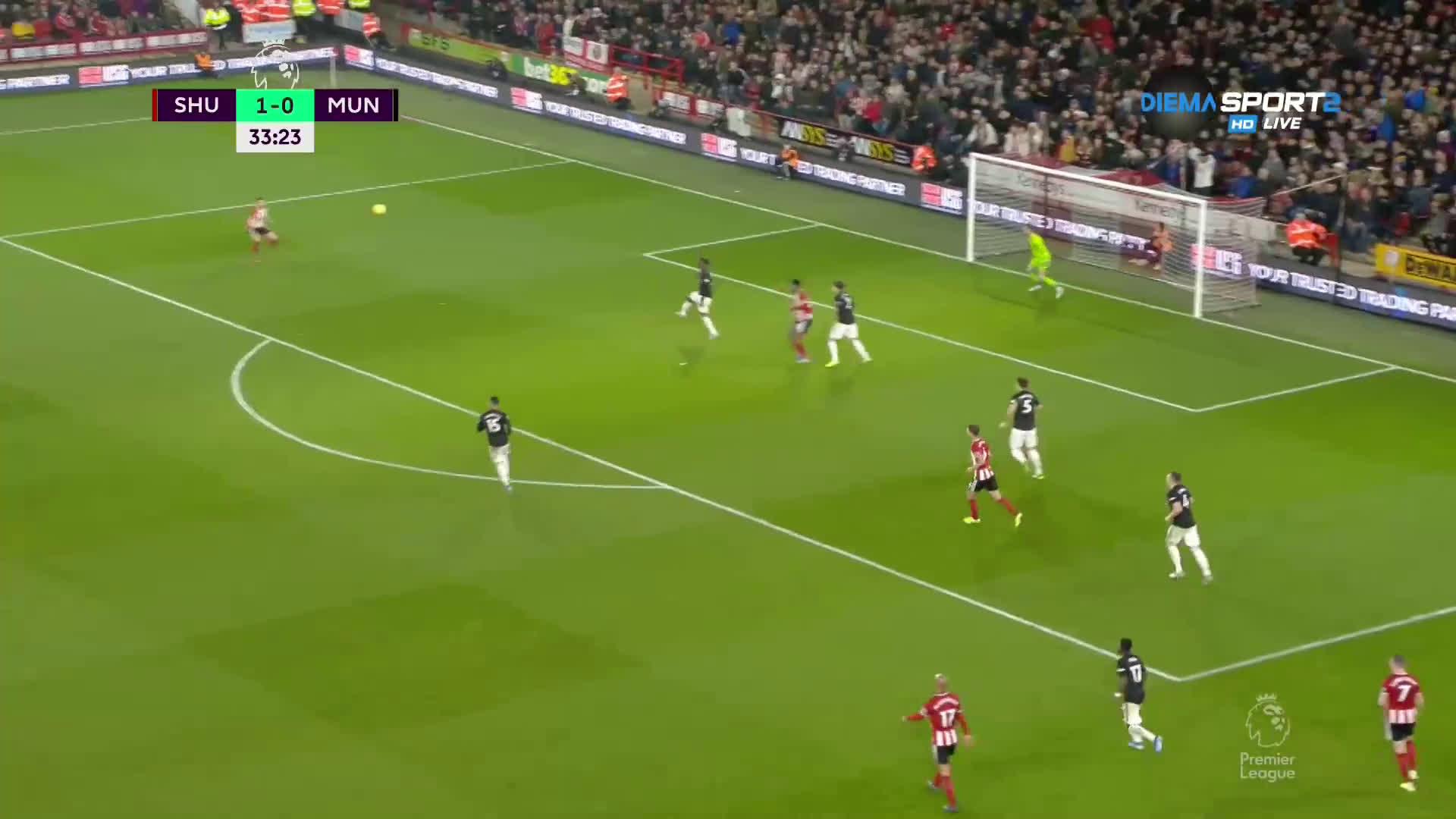 Шефилд Юнайтед - Манчестър Юнайтед 1:0 /първо полувреме/
