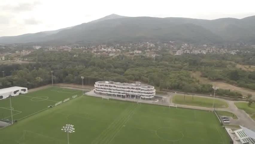 От високо: Новият дом на българския футбол