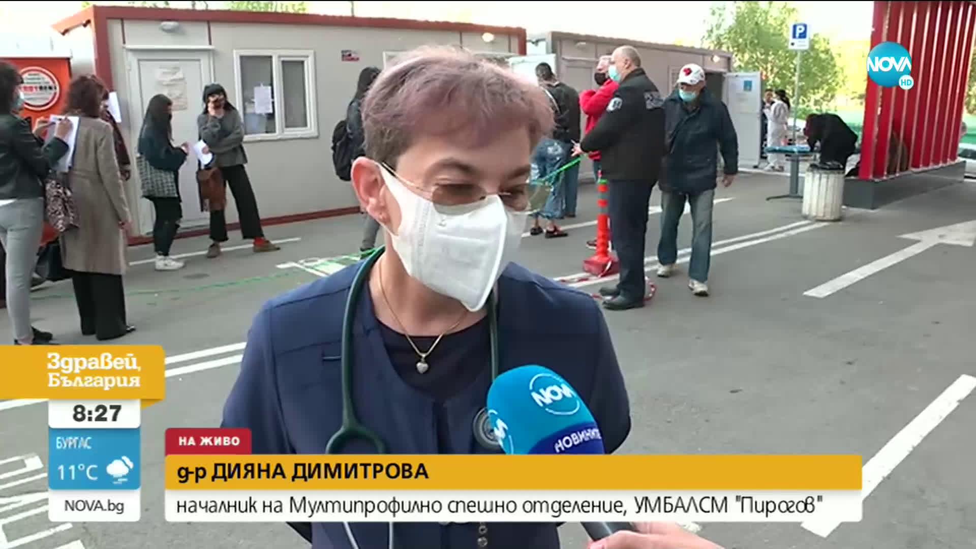 """Опашки от желаещи се извиха пред """"Пирогов"""""""