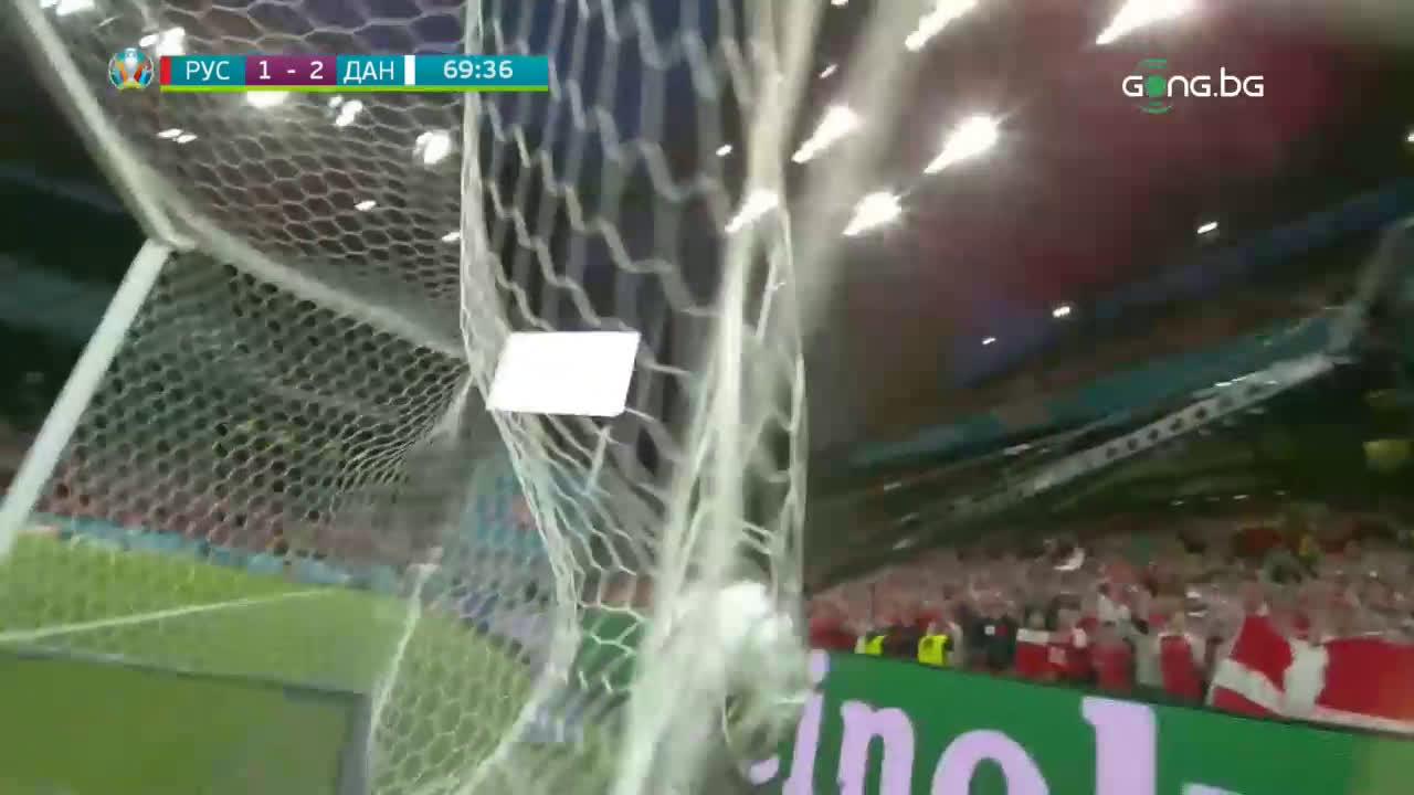 Русия - Дания 1:4 /репортаж/
