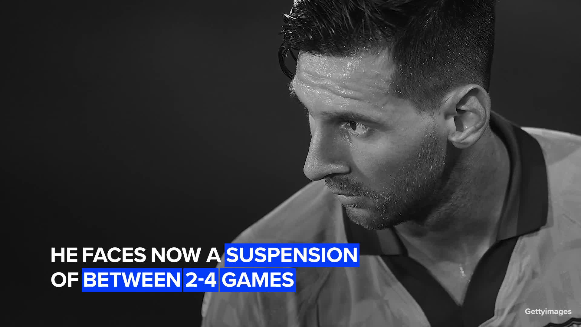 Messi sees a red card for the first time in Barcelona