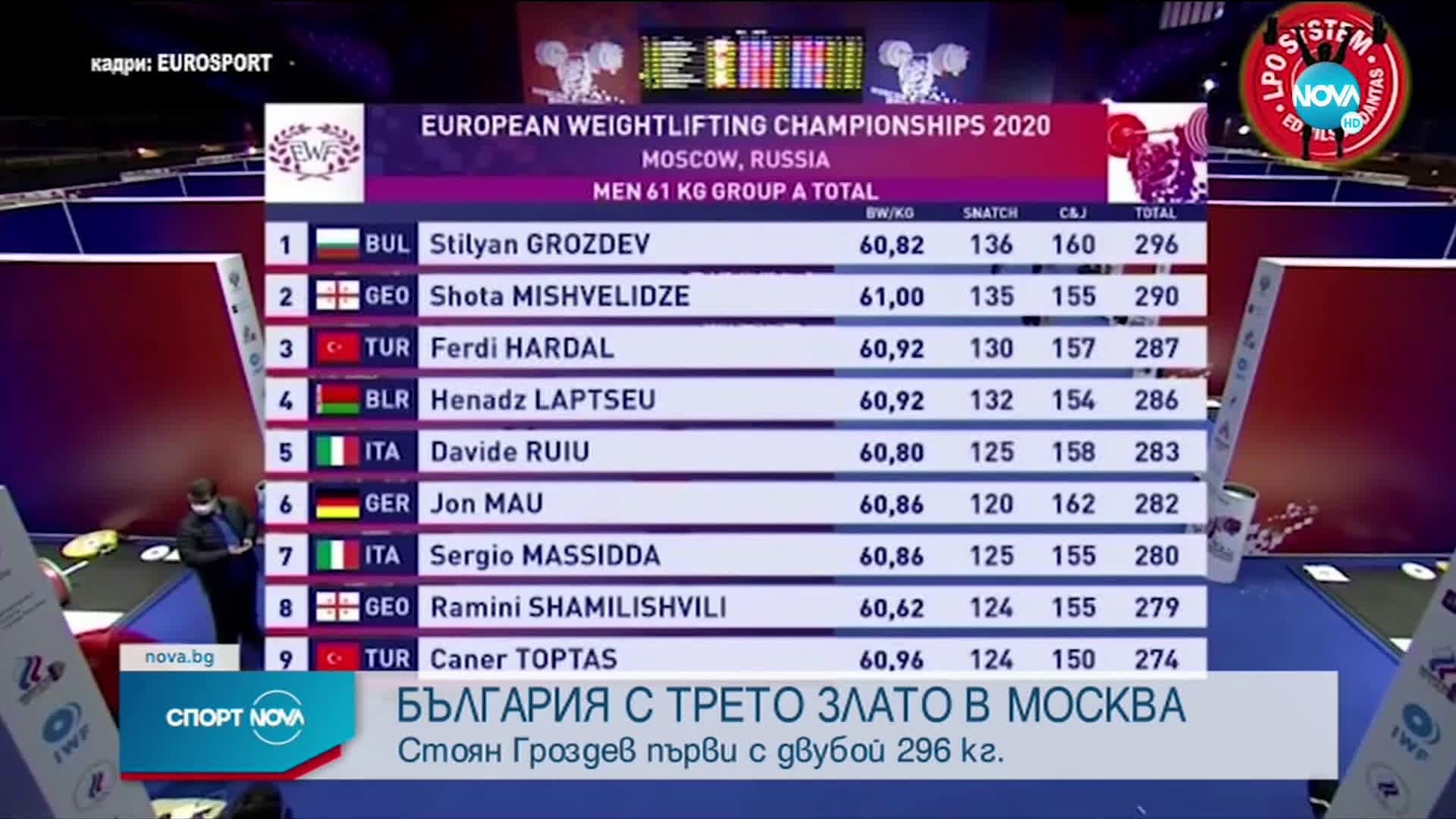 България с трето злато в Москва
