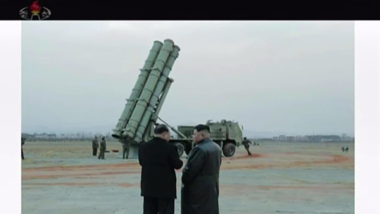 North Korea: Kim Jong-un observes test firing of multiple rocket launcher *STILLS*