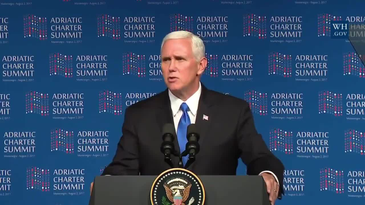 Montenegro: Pence accuses Russia of carrying out 'destabilising activities' in W. Balkans
