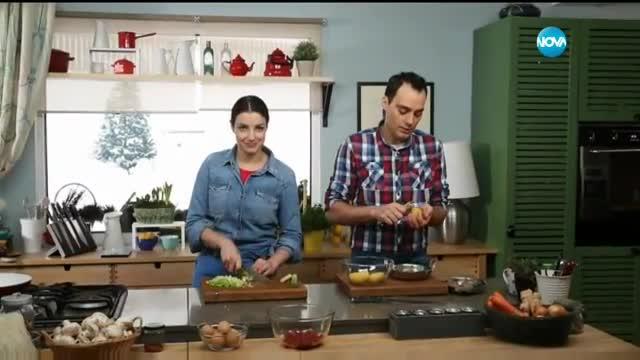Лютика със сушени чушки и картофи - Бон апети (23.01.2017)
