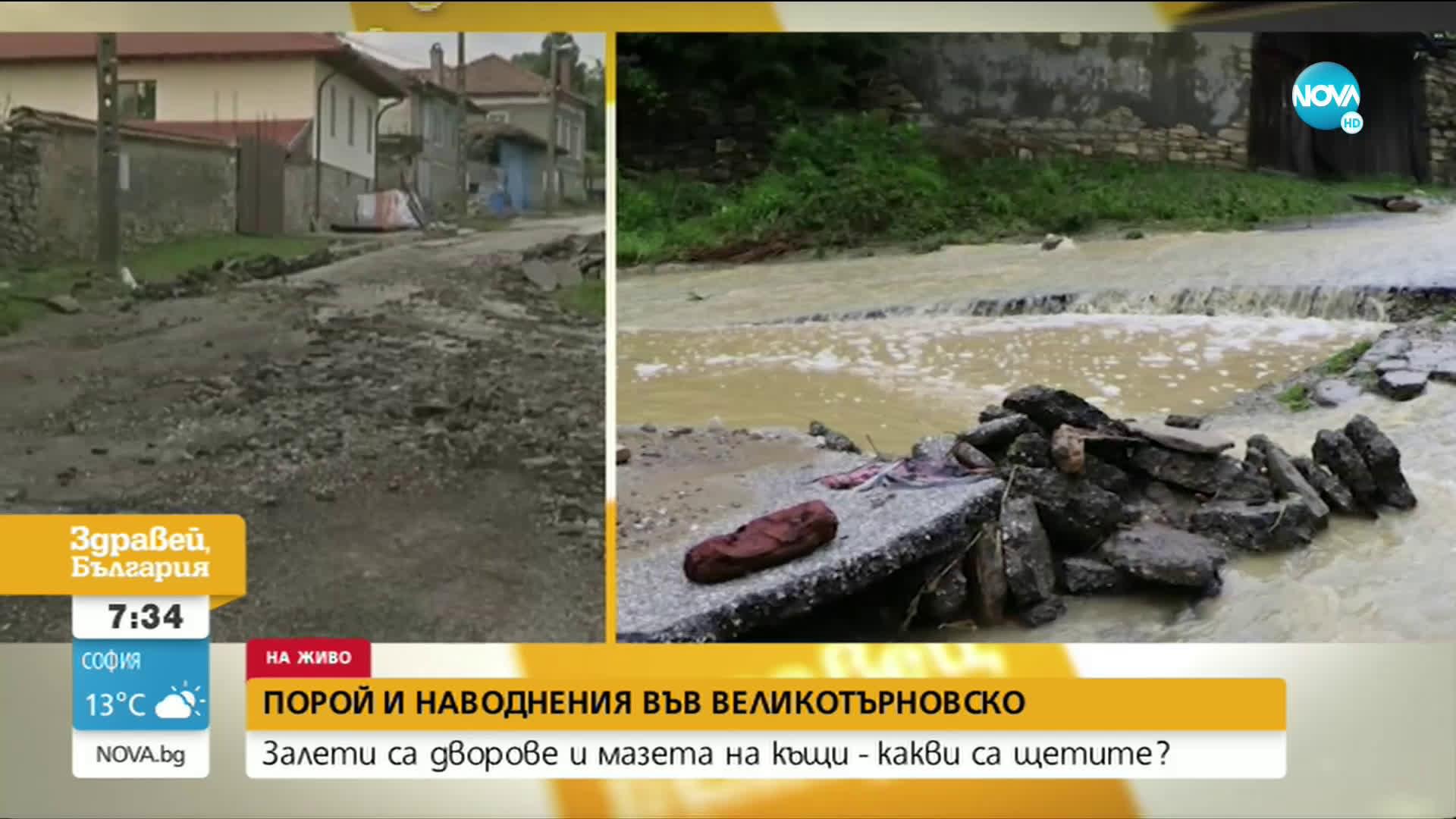 Какви са щетите в двете наводнени великотърновски села?