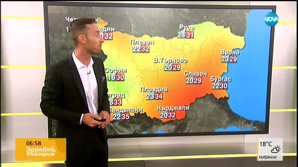 Прогноза за времето (01.08.2019 - сутрешна)