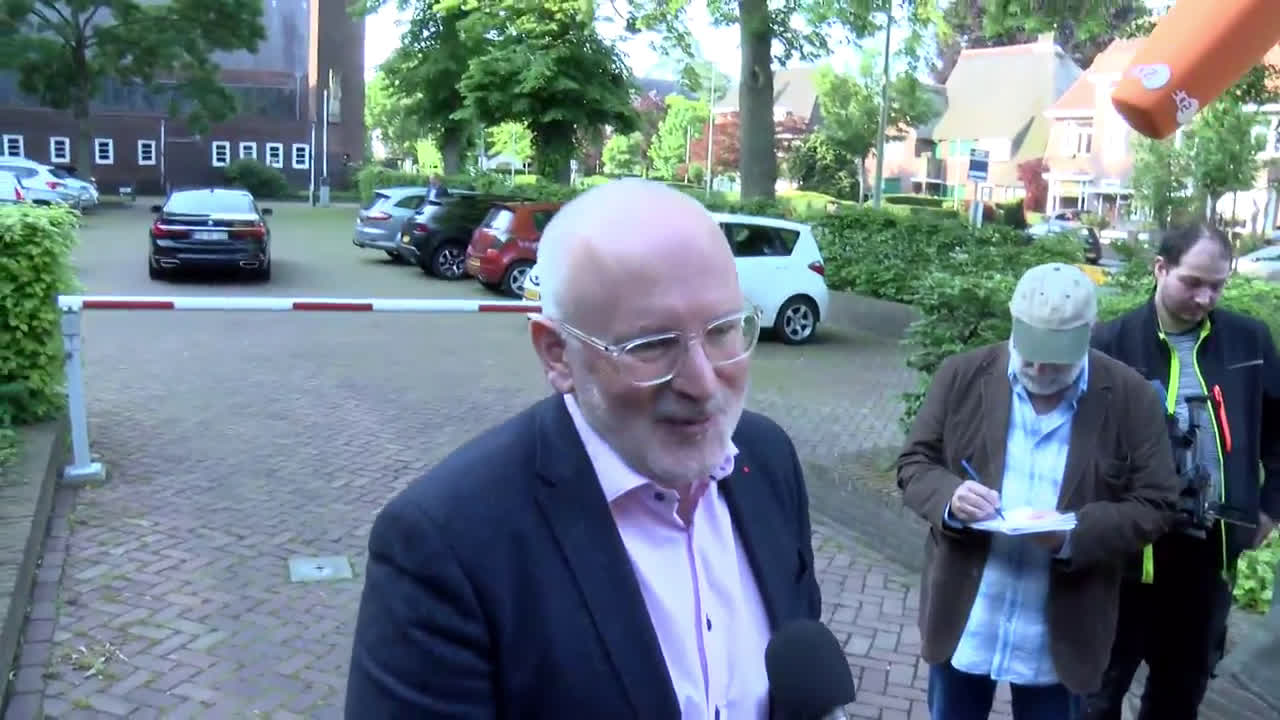 Netherlands: European Commission VP Timmermans casts vote in EU elections