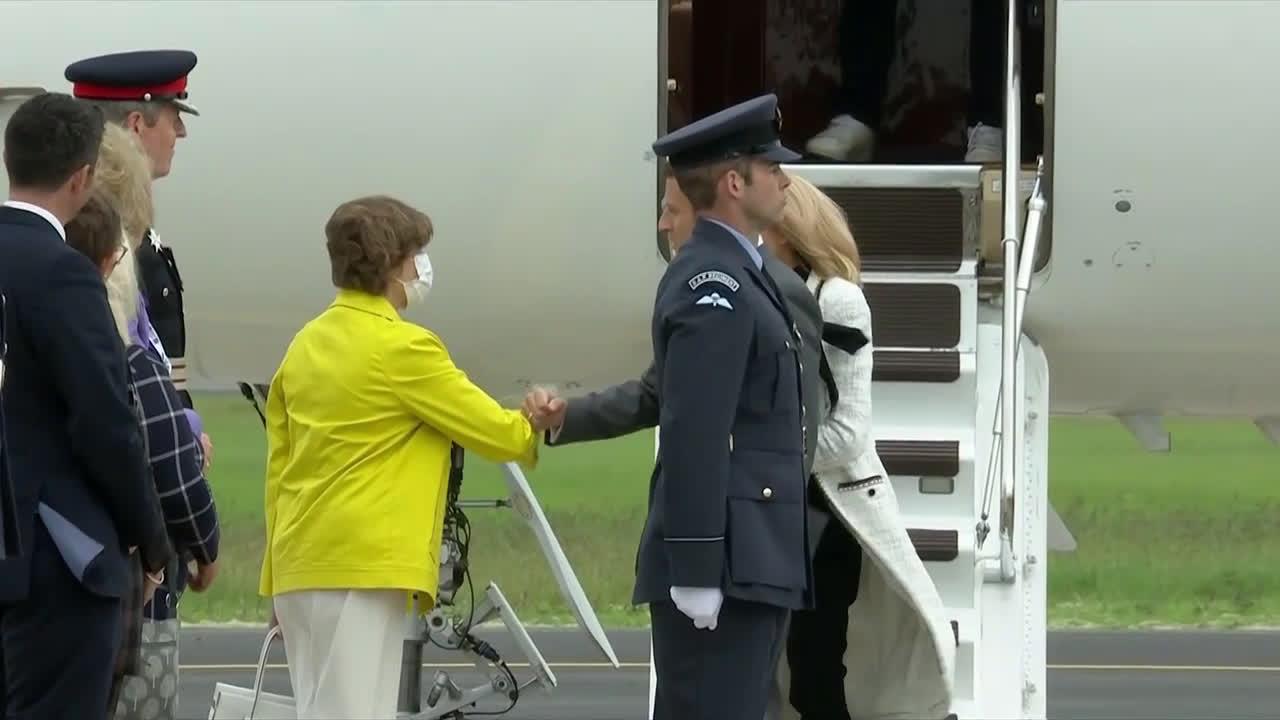 UK: Macron arrives in Britain ahead of G7 Summit in Cornwall