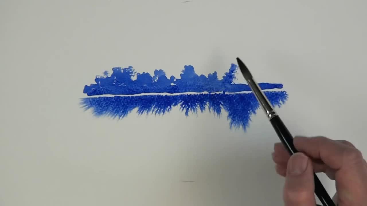 Как да използваме гума арабика в рисуването с акварел