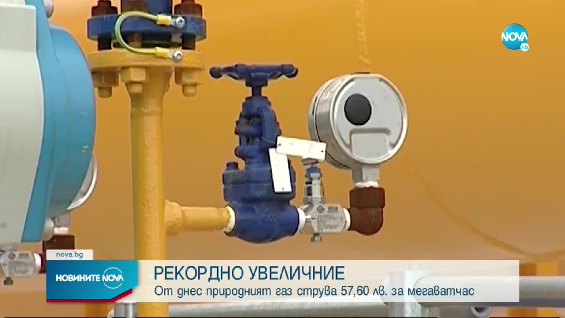 Цената на природния газ за август - най-високата от седем години насам
