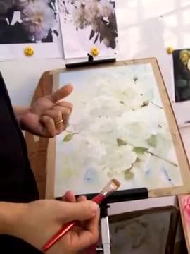 Рисуване на бели рози-демонстрация от Adisorn Pornsirikarn (акварел) част 2/2