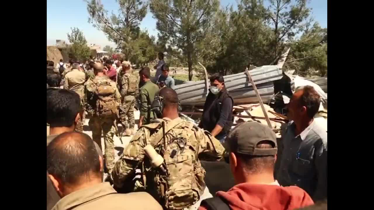 Syria: US troops visit site of Turkish airstrikes against Kurdish fighters