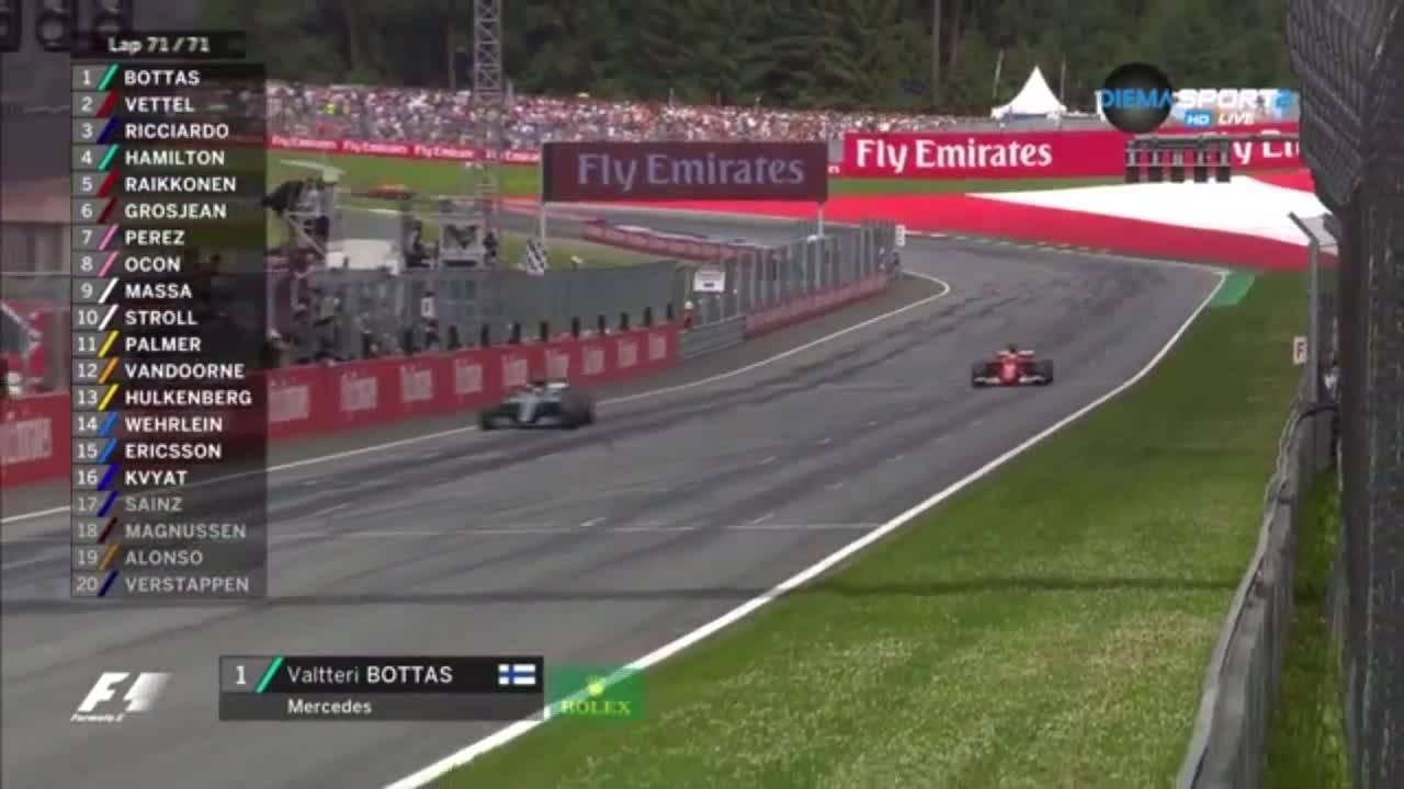 Ботас удържа победата в Гран При на Австрия